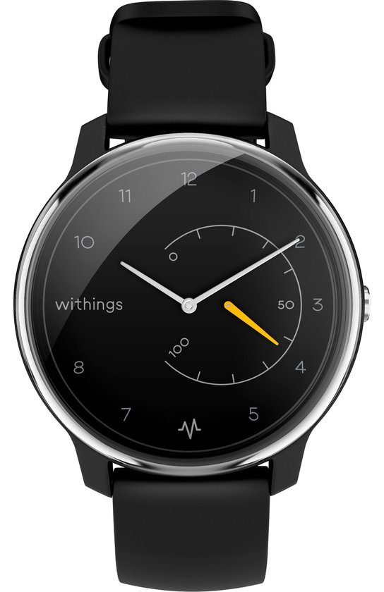 WITHINGS Move ECG - Hybride smartwatch - Zwart/Geel