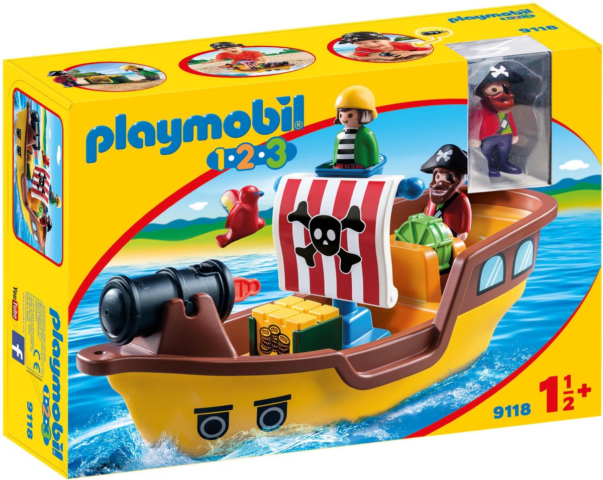 PLAYMOBIL 1.2.3. Piratenschip - 9118