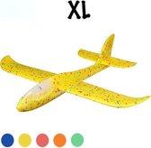 Zweefvliegtuig wegwerp geel XL | EXTRA GROOT | vliegtuig speelgoed | vliegtuig kinderen | foam vliegtuig
