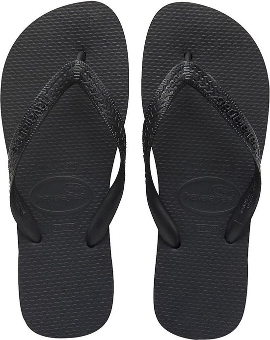 Havaianas Top Unisex Slippers - Black - Maat 37/38