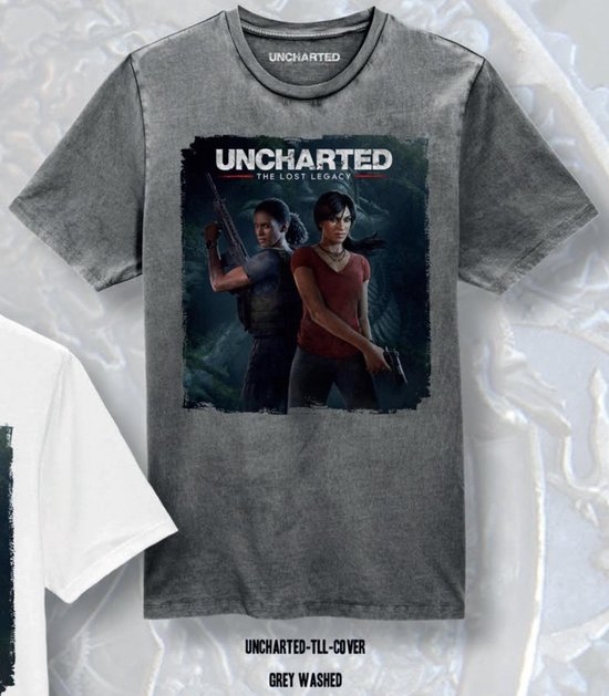UNCHARTED - T-Shirt The Lost Legacy Cover - Grey (L)
