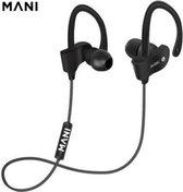 MANI- Bluetooth Oordopjes Draadloos - Geschikt voor Android, Samsung en Apple- In ear oortjes handig voor Hardlopen en Sport- Zwart/Zwart