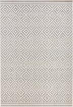Vloerkleed - In&outdoor - Bougari Raute - Grijs,creme - 160x230cm geweven