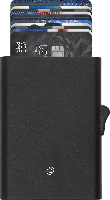 C-secure XL pasjeshouder - 8 tot 12 pasjes - aluminium kaarthouder voor mannen - RFID (zwart)