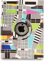 Apple iPad Hoes - 360° Draaibaar - Voor de iPad Mini 4 - 'Testbeeld' - Uniek Design