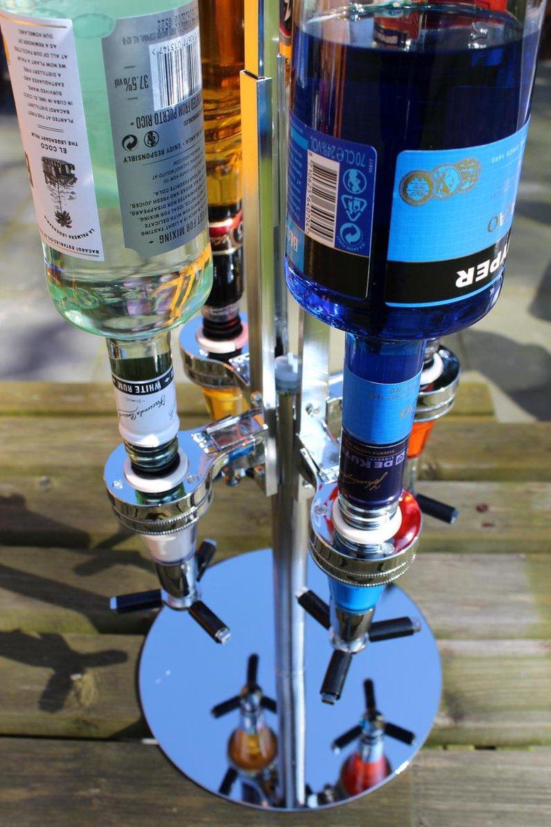 Mancave spullen - bar bultle shot dispenser voor vier flessen.