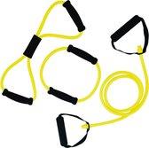 Tunturi Tubing met Handvatten - Resistance tube - Licht Geel