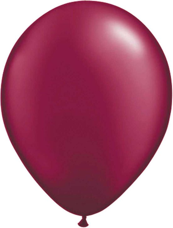 Burgundy Wijnrode Metallic Ballonnen - 10 stuks