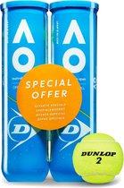 Dunlop Australian Open Tennisballen - 2x4 stuks