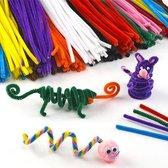 Voordeelpakket pijpenragers - creatieve hobbymateriaal voor kinderen - ideaal voor scrapbooking decoraties en modelbouw (120 stuks per verpakking)
