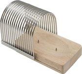 Point-Virgule snijset voor Hasselback potato - 13.6x9.4x10.5cm - Zilvergrijs