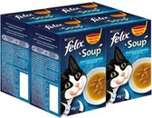 FELIX Soup Vis Selectie - Kattenvoer - 4 x 6 x 48 g