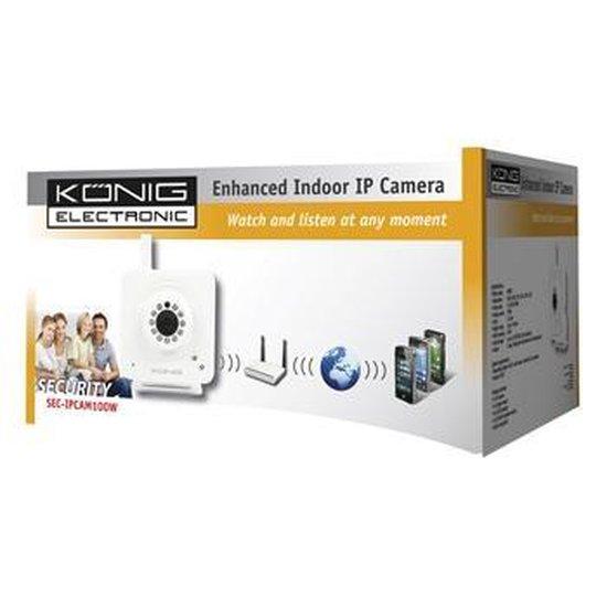 König SEC-IPCAM100W bewakingscamera IP-beveiligingscamera Binnen 640 x 480 Pixels