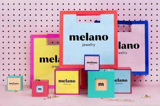Melano twisted steen rond - zilverkleurig + turquoise - dames - 8mm