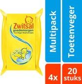 Zwitsal Baby Goedemorgen Vochtige Washandjes - 4 x 20 stuks - Voordeelverpakking