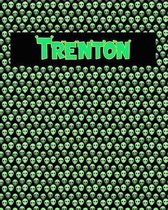120 Page Handwriting Practice Book with Green Alien Cover Trenton