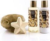 4-delige Badset - Body Luxe - Warm Vanilla & Lime Blossom – in geschenkverpakking – cadeau voor moeder – cadeau voor verjaardag – vrijgezellencadeau