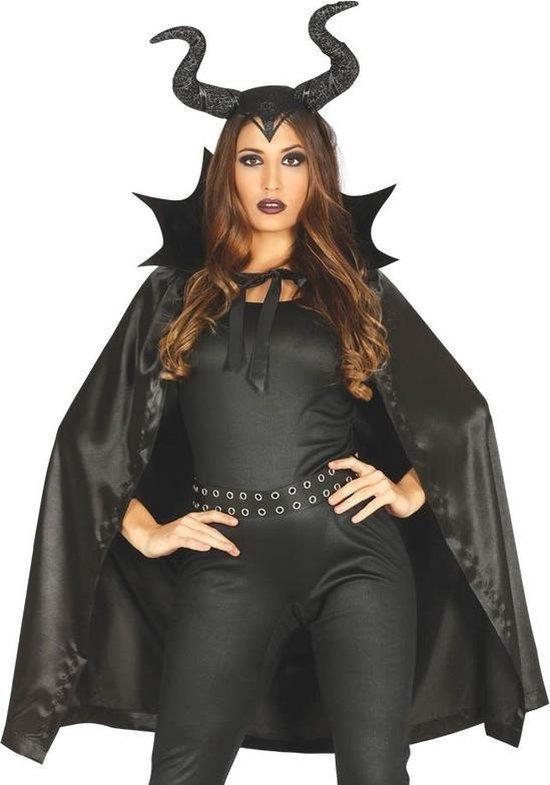 Halloween Kleding Winkel.Bol Com Halloween Heks Met Hoorns Halloween Kostuum Cape Voor Dames
