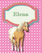 Handwriting and Illustration Story Paper 120 Pages Elena