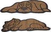 Deurmat hond of kat - kokos - set van 4 stuks