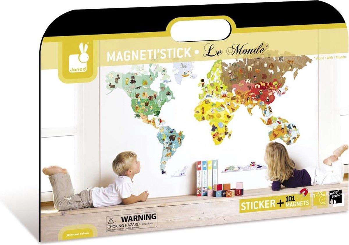 Verwonderend bol.com   Janod Muursticker Wereld Magnetisch OF-01
