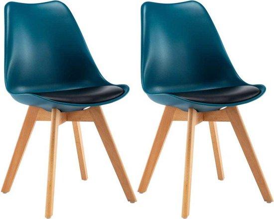 Betere bol.com | Eettafel stoelen Turquoise en Zwart 2 STUKS / Eetkamer CW-97
