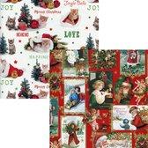 Assortiment 9 Luxe kerstpapier Inpakpapier Cadeaupapier - 300 x 70 cm - 4 rollen