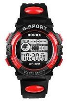 HONIX S Sport - Horloge - Kunststof - Zwart/Rood - Ø 44 mm