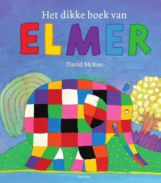 Boek cover Het dikke boek van Elmer van David Mckee (Hardcover)