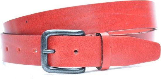 Timbelt 3,5cm rode riem – nerfleder – jeans riem – pantalon riem – Maat 95 cm