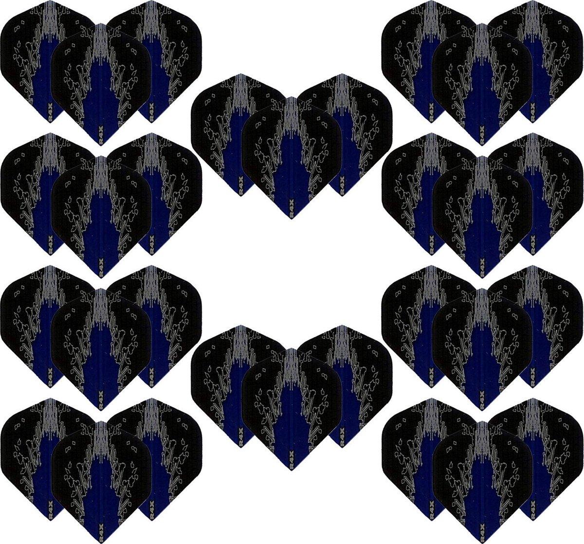 Dragon Darts - High Impact - 10 sets (30 stuks) - darts flights - Best Getest - Blauw