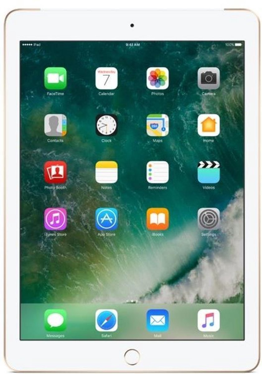 Apple iPad (2018) refurbished door Forza - B-Grade (Lichte gebruikssporen) - 32GB - Cellular (4G) - Goud