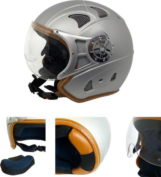 Motorhelm - Scooterhelm - Jethelm Met Vizier - Helm Motor & Scooter - Maat M