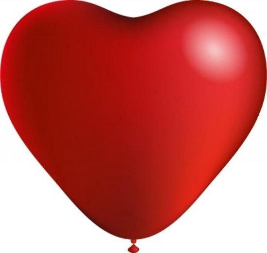 Rode Hartjes Ballonnen - 100 stuks - 25cm - Hartjes - Hartje Ballon - Valentijn