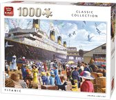 King Puzzel 1000 Stukjes (68 x 49 cm) - Titanic - Klassieke Legpuzzel - Volwassenen