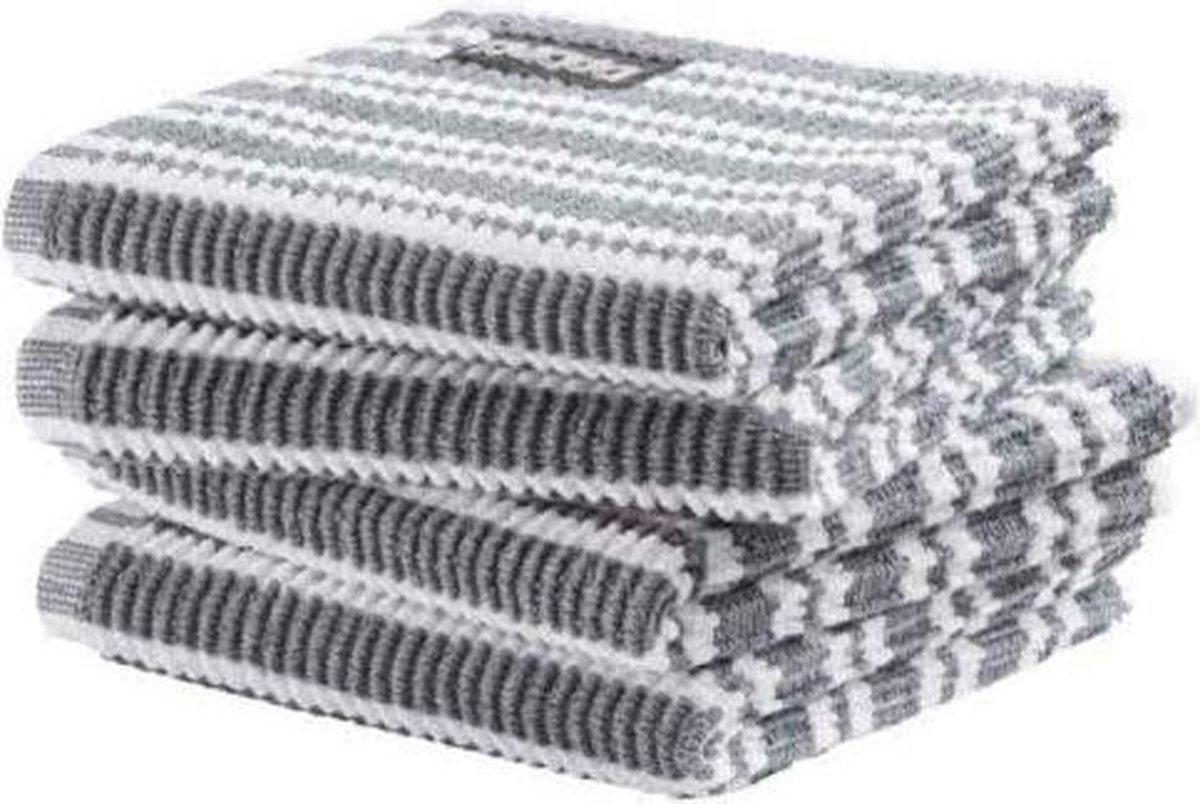 DDDDD vaatdoek Classic Clean neutral grey (30 x 30 cm) per 4 stuks - DDDDD