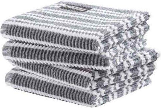 DDDDD vaatdoek Classic Clean neutral grey (30 x 30 cm) per 4 stuks