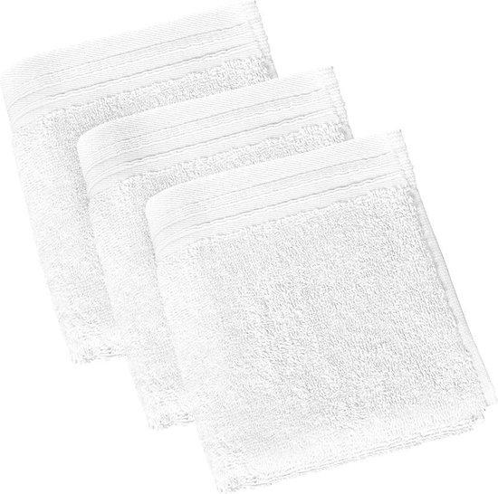De Witte Lietaer  Imagine  –  Gastendoekjes 30x50 cm -  Wit - Set van 3 - De Witte Lietaer