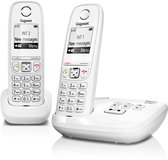 Gigaset AS405A - Duo DECT telefoon - met antwoordapparaat - Wit