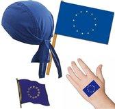 Europa/Europees thema verkleed set voor volwassenen - Fan/supporter feestartikelen - Europese Unie