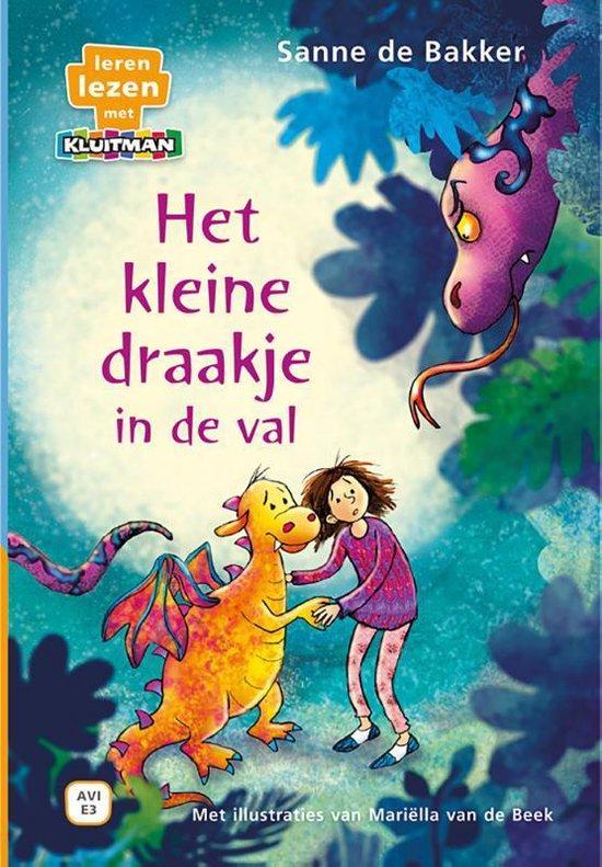 Boek cover Leren lezen met Kluitman  -   Het kleine draakje in de val van Sanne de Bakker (Hardcover)