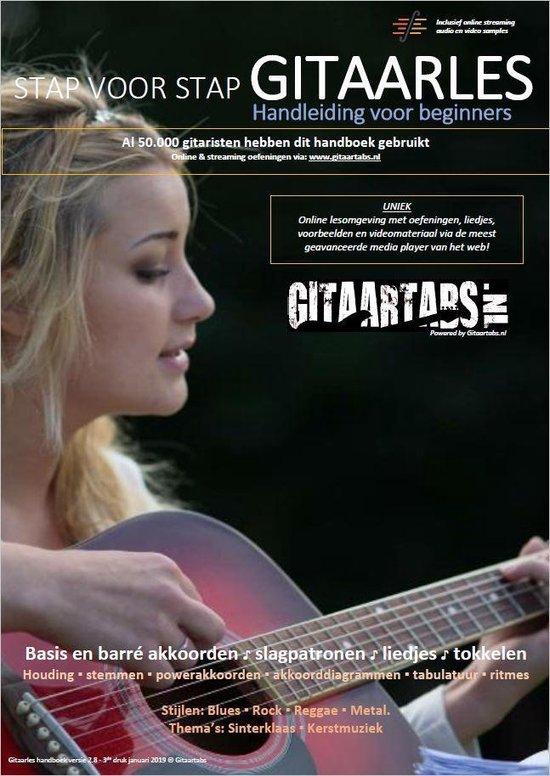 Boek cover Gitaar boek voor beginners - Leer stap voor stap gitaar spelen - inclusief Online Videos & Samples van Gitaartabs (Onbekend)