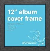 Wissellijst album LP met houten zwarte rand formaat 31.5x31.5cm.