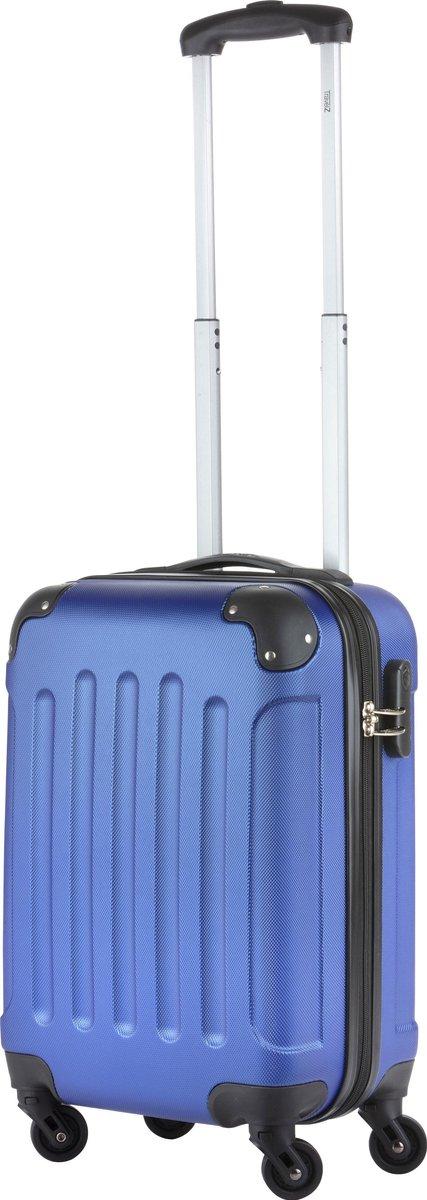 TravelZ Handbagagekoffer - Handbagagetrolley 53cm met afneembare wielen - Blauw