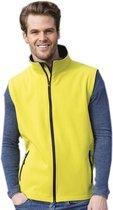 Softshell casual bodywarmer geel voor heren - Outdoorkleding wandelen/zeilen - Mouwloze vesten L (40/52)