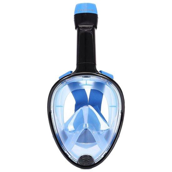 Atlantis 1.0 Full Face - Snorkelmasker - L/XL - Zwart/Blauw - Atlantis 1.0