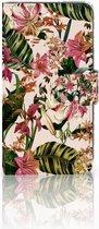 Motorola Moto C Plus Uniek Wallet Book Case Hoesje Flowers
