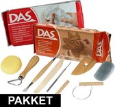 Boetseren basis pakket - gereedschap en 2 kilo klei