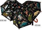 Floss & Rock Dinosaurus - magische kleur veranderende paraplu - Multi