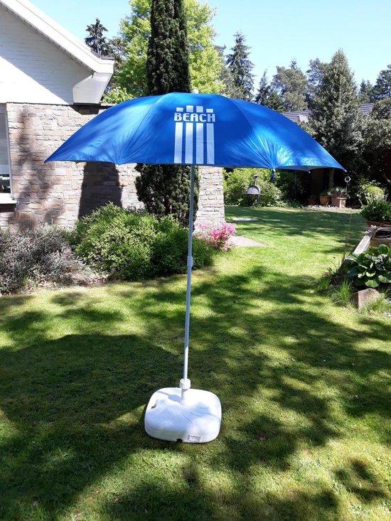 Pincho Beach Parasol Model 180 & Draagtas - 99 % UV bescherming  -  Blauw - Pincho